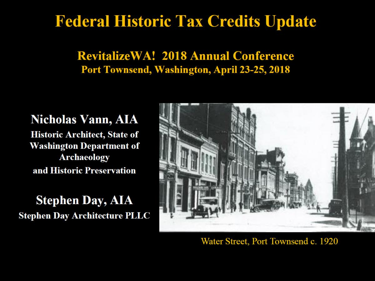 Federal Historic Tax Credits