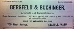 Bergfeld & Buchinger Advertisement, Gazette - 1901-02