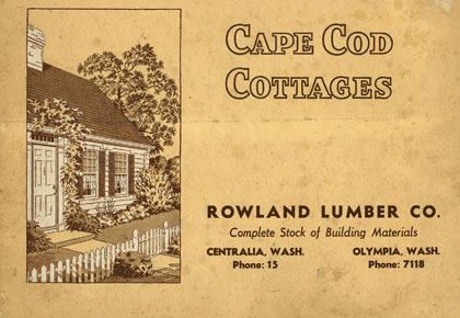 Cap Cod Cottages Plan Book - Rowland Lumber Co., 1940