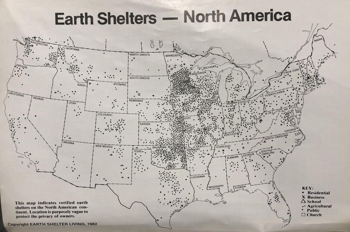 Earth Shelter Map - 1982