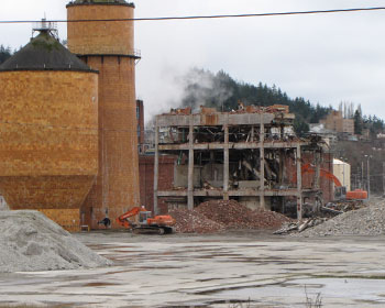 Demolition of Georgia-Pacific Paper Co Mill, Bellingham