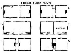 Typical I house floor plans.
