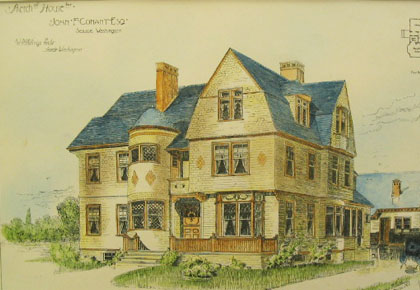 Rendering of the John Conant House, Seattle - 1890