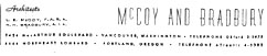 McCoy & Bradbury Architectural Office Letterhead - 1960