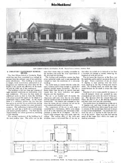 "New Edison School featured in ""School Board Journal"" 1919"