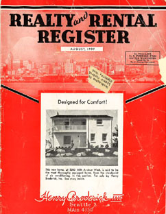 Realty and Rental Register, Seattle - August 1937