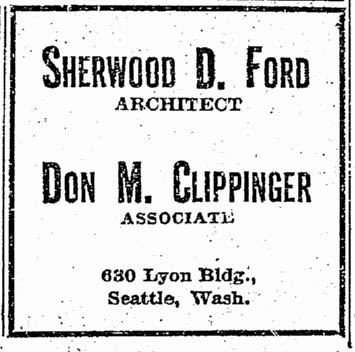 Ford - Clippinger Advertisement - Seattle Times: April 14, 1929
