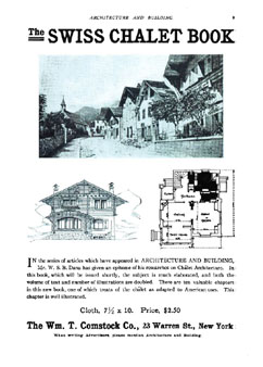 "Advertisement for ""The Swiss Chalet Book"", Architecture & Building, Aug 1912"
