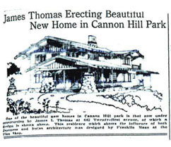 James Thomas Spec House, Spokane - 1913