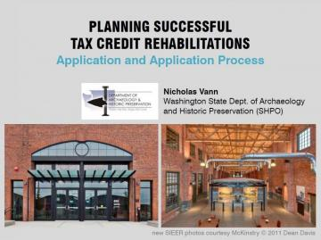 Planning Successful Tax Credit Rehabilitations