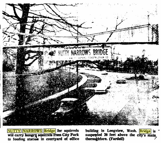 Nutty Narrows Media Coverage, Oregonian- March 20, 1963